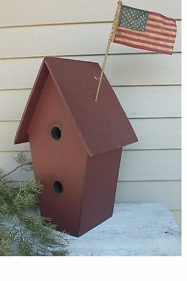 Primitive Grungy  Large Birdhouse with two holes Pattern/Plan WN110