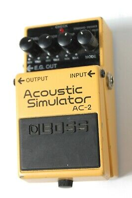 BOSS AC-2 Acoustic Simulator Guitar Effect Pedal (Through Hole Component) #R5433