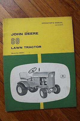 John Deere 60 Lawn Tractor Operators manual