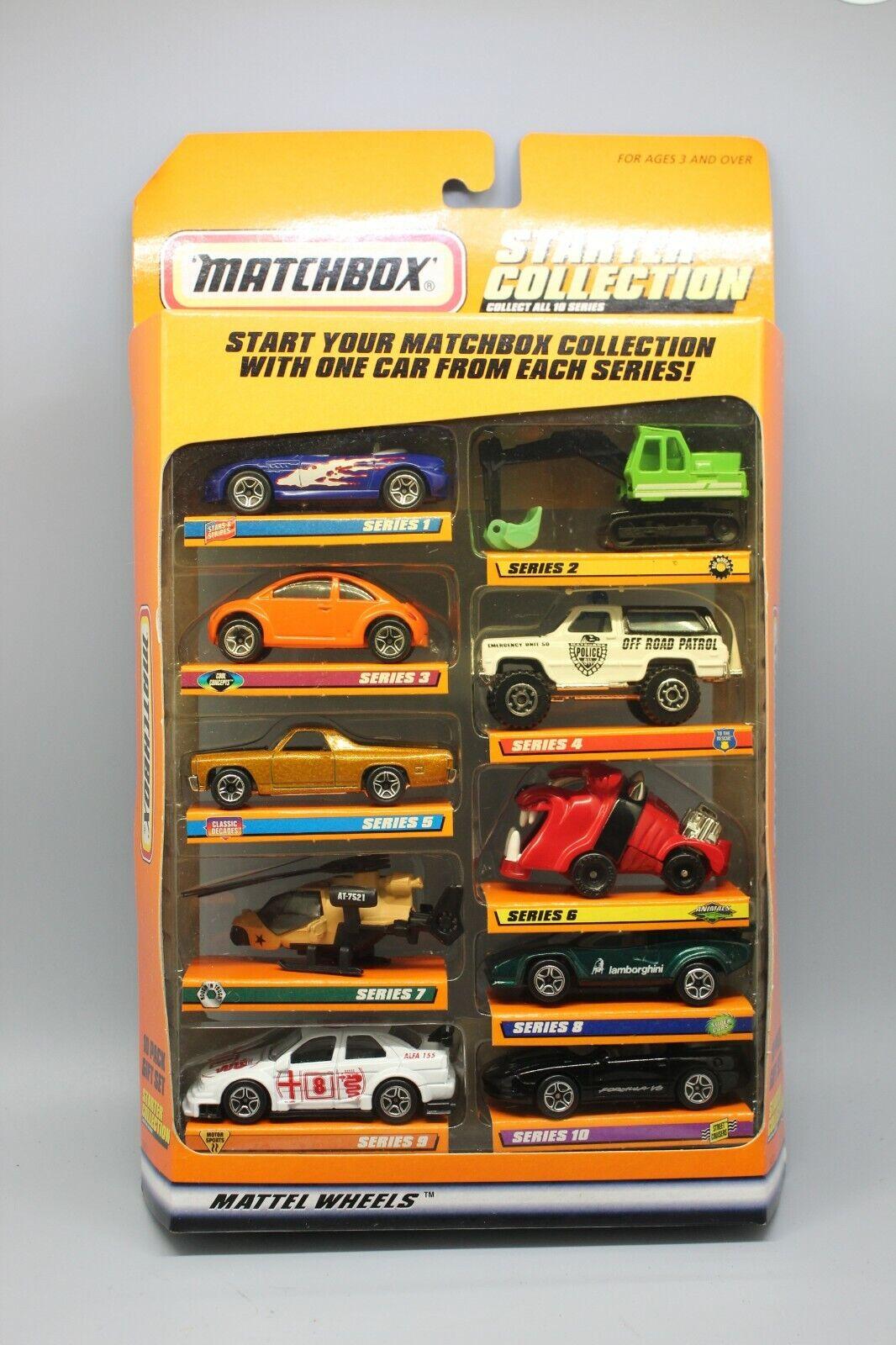 MATCHBOX STARTER COLLECTION #34721 10 CAR SET INCLUDES '70 G