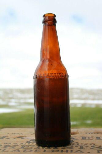 Antique Ballantines Breweries Newark New Jersey Amber Glass Embossed Beer Bottle