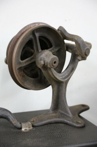 Cast Iron Pulley Flywheel Antique Treadle Sewing Machine Parts industrial light