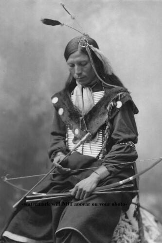1899 Chief Bone Necklace PHOTO Oglala Lakota Sioux Indian Native American
