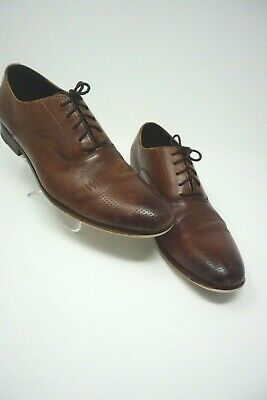 Men's Kenneth Cole Cha-Raid Cap Toe Oxford Brown Size 11