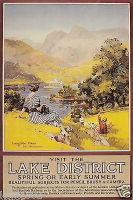 Vintage Railway Advert Jumbo Fridge Magnet The Lake District