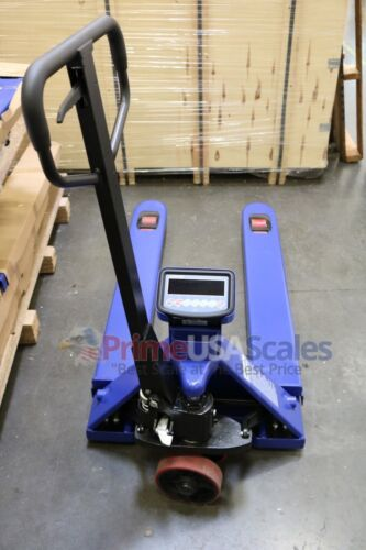 5 Year Warranty Pallet Jack Scale with Built-in Scale 2,500 x 1 lb Capacity