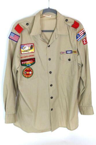 1991 Maine Scout Jamboree Pine Tree Council Madockawanda Lodge Uniform Shirt Lg