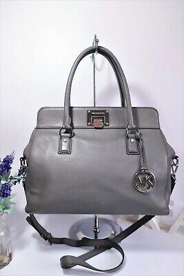 MICHAEL KORS ASTRID Multiay Crossbody Satchel Grab Bag Large Grey Leather