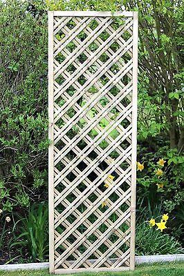 Wooden trellis, Diamond double trellis, lattice panel 6ft x 2ft (180 x 60cm)