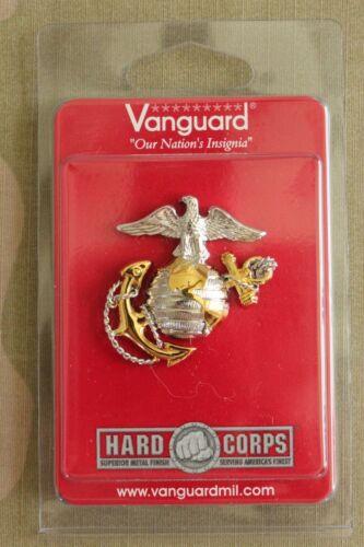USMC MARINE CORPS GOLD & SILV EAGLE GLOBE & ANCHOR OFFICER COMBINATION CAP BADGE