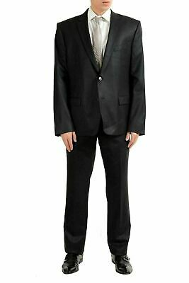 Versace Collection Men's 100% Wool Black Two Button Suit US 46 IT 56