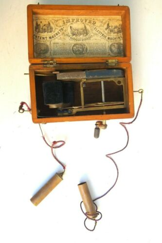 Antique Improved Patent Magneto Electric Therapy Machine for Nervous Illnesses