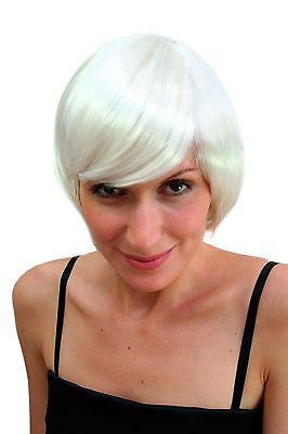 Sexy Bob Wig White Blonde/Platinum Blond short Hair Cut Disco Go-Go Halloween](Hair A Go Go)