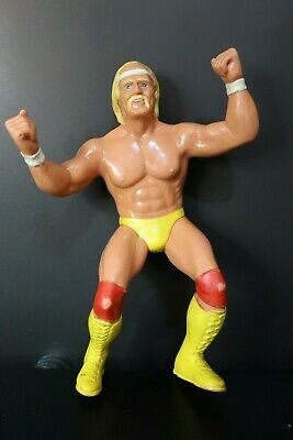 "LJN Hulk Hogan Rubber Action Figure WWF 1984 World Wrestling Federation 8"" Inch"
