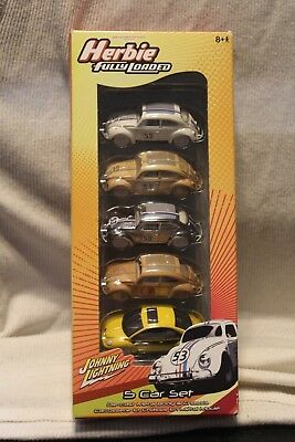 WHITE LIGHTNING HERBIE FULLY LOADED FIVE PACK ALL WHITE LIGHTNINGS LOVE BUG
