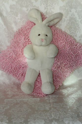 Stephan Baby PINK White Bunny Rabbit stuffed toy Pillow 12 x 12