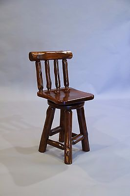 Live Edge Rustic Red Cedar Log Bar Stools -Amish Made USA- Multiple Sizes