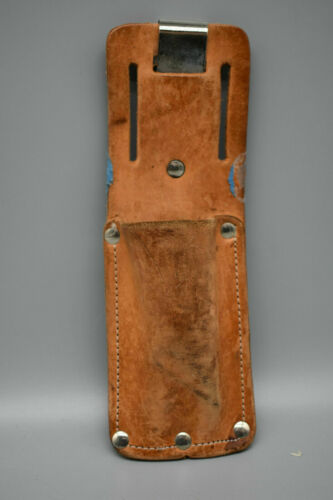 """Leather Box Cutter Belt Utility Knife Holder 8"""" Tall 3"""" wide"""