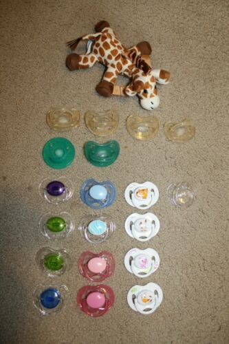 reborn doll 20pc.pacifier lot(READ-nipples have been cut off!)