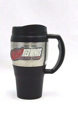 Detroit Red Wings Thermal Insulated Travel Mug 20 Oz. NEW FREE SHIPPING