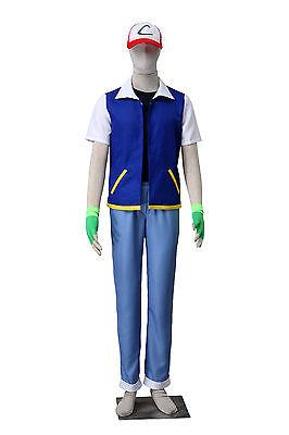 Cosplay POKEMON Ash Ketchum Anime Manga Costumes Kostüme 5 Teile (Pokemon Ash Ketchum Kostüme)