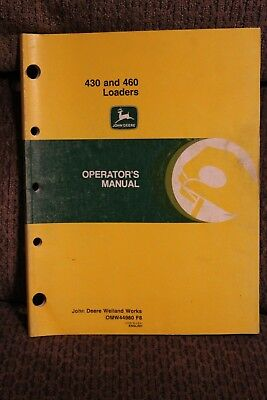 John Deere Operators Manual 430 And 460 Loaders Issue F8