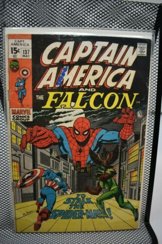 Captain America & The Falcon #137 Marvel Comics 1971 Stan Lee Spider-Man 5.5