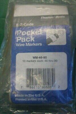 Thomas Betts E-z Code Wire Marker Book Wm-46-90