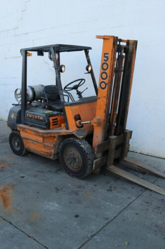 5,000 Lb Toyota Lp Gas Forklift: Yoder #63915