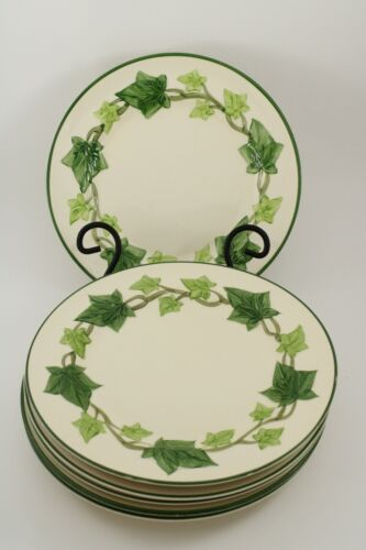 """4 Franciscan Ivy 9 1/2"""" Luncheon Plates - Made in California"""