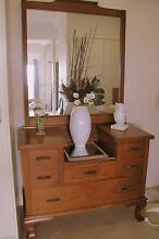 Antique Edwardian Mirror Iron Dresser Draws Dressing Table Timber Nambour Maroochydore Area Preview