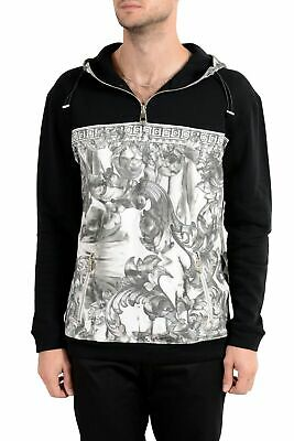 Versace Collection Men's Designed 1/2 Zip Hoodie