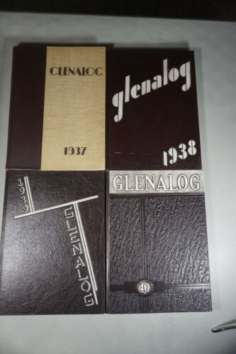 Glen Ridge High School Yearbooks (Glenalog), 1937-1940, w/ 55th reunion note.