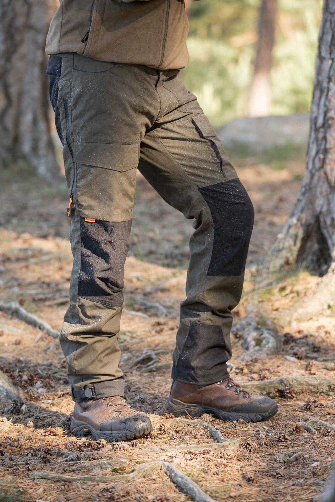 Pinewood Lappland Extrem Hose Dunkelgrün//Schwarz Größe C56 Outdoor wasserdicht
