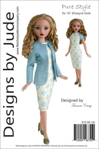 """Pure Style Doll Clothes Sewing Pattern for 16"""" Ellowyne Wilde Tonner"""