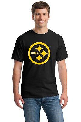 Pittsburgh Steelers T-Shirt Antonio Brown Ben Roethlisberger Bell BLACK