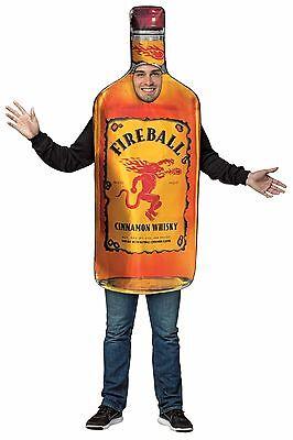 Rasta Imposta Feuerball Whiskey Get Real Flasche Erwachsene - Flasche Whiskey Kostüm