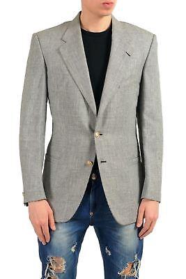 Versace Men's 100% Wool Two Button Blazer Sport Coat US 38 IT 48