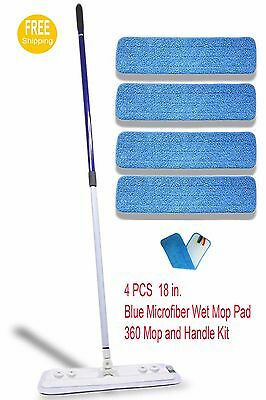 Microfiber Mop with FOUR(4) Microfiber Pads Best