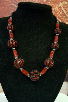 Handmade unique beaded necklace