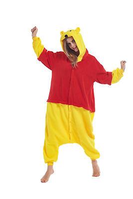 sqlszt Women men Adult Unisex Kigurumi Winne Pooh Onesie0 Pajama Cosplay Costume