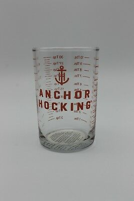5 oz Clear Glass Measuring Cup Bar - Jigger Shot Glass Anchor Hocking (2 Oz Measuring Shot Glass)