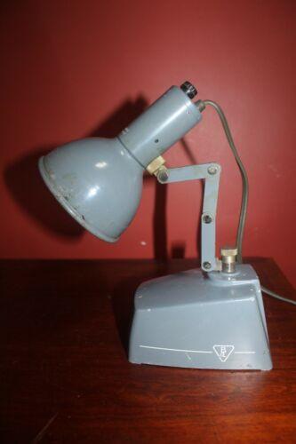 """Vintage Bausch & Lomb Desk Light Lab Scissor Arm, 12"""" High, Tested Works!"""