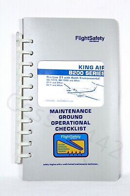 FlightSafety KING AIR B200 Series Maintenance Ground Operational Checklist New