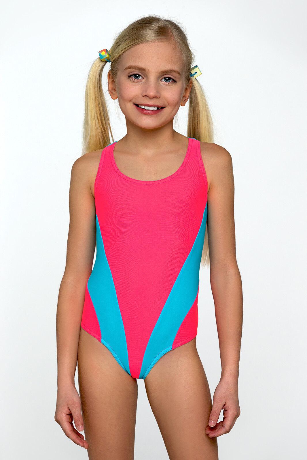 34ed3edb05d New Little Girls Sport Swimming Costume Swimwear Swimsuit Kids Age 3 4 5 6 7