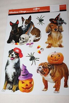 HALLOWEEN Window Clings DOGS DRESSED UP IN COSTUMES](Dogs Dressed In Halloween Costumes)