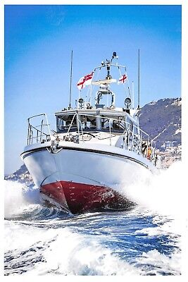 Used, Postcard Royal Navy HMS Scimitar Fast Patrol Boat, based at Gibraltar 2016 i62 for sale  Shipping to South Africa