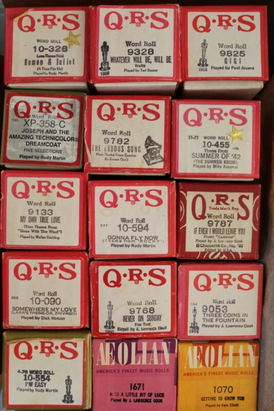 QRS/Aeolian Piano Player Roll - Movie & Broadway Songs, Choose Your Own