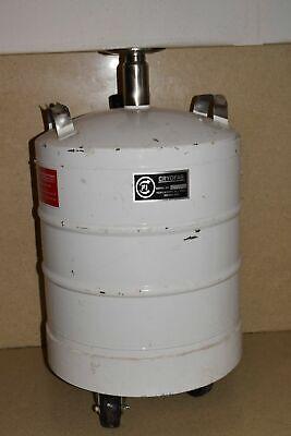 Cryofab Model Cfl-25 25 Litre Liquid Nitrogen Dewar W Castered Wheels