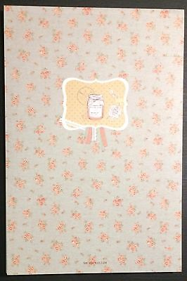 Floral Letter Pad Stationery - Cute Kawaii Korean Writing Paper - 72 pages!